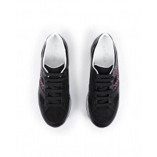 Sneakers Hogan black with black/white sole for women
