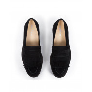 Moccasins Hogan black with thick sole for women
