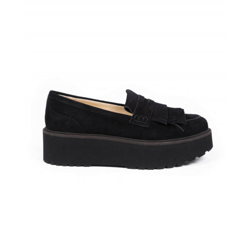 Achat Moccasins Hogan black with thick sole for women - Jacques-loup