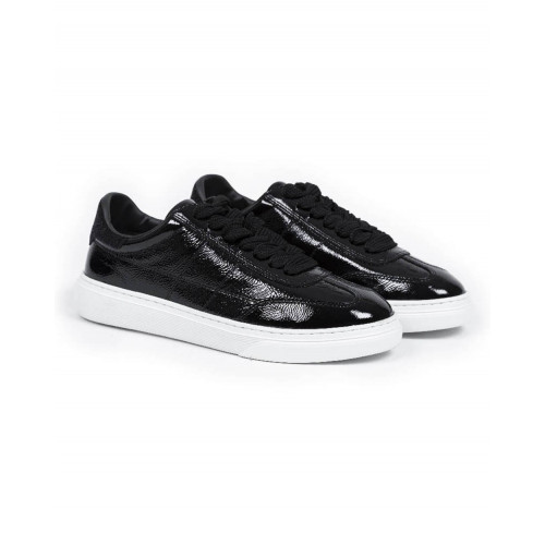 "Tennis shoes Hogan ""Cassetta"" patent black for women"