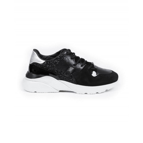 """Sneakers Hogan """"New Active"""" black/gold for women"""