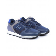 H321 - Multicolored suede and textile sneakers
