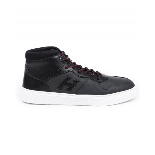 "Sneakers Hogan ""Cassetta"" black with white sole for men"
