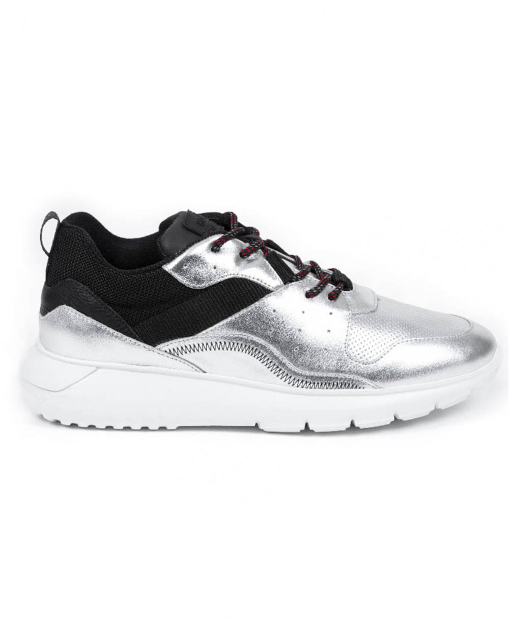 I Cube - Leather and textile sneakers two-tones 45