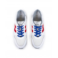 Achat Sneakers Hogan H86 RUN white with navy blue and red details for men - Jacques-loup