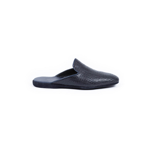 Achat Indoor mules Jacques Loup navy blue in leather for men - Jacques-loup