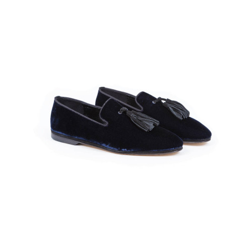 Moccasins Jacques Loup navy blue/black for men