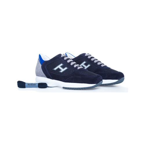 Achat Navy blue sneakers Interactive Hogan for men - Jacques-loup