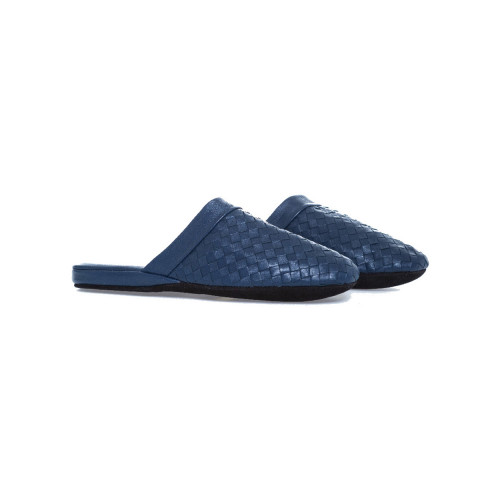 Achat Travel mule Jacques Loup in blue plaited leather for men - Jacques-loup