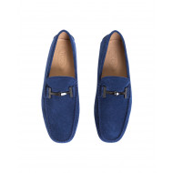 Achat Moccasins Tod's Doppia T navy blue with metallic bit Double T for men - Jacques-loup
