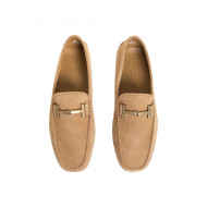 "Moccasins Tod's ""Doppia T"" beige with metallic bit ""Double T"" for men"