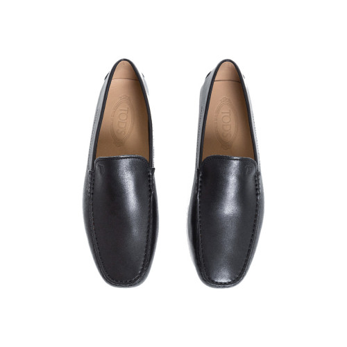 Black moccasins with smooth upper Tod's for men