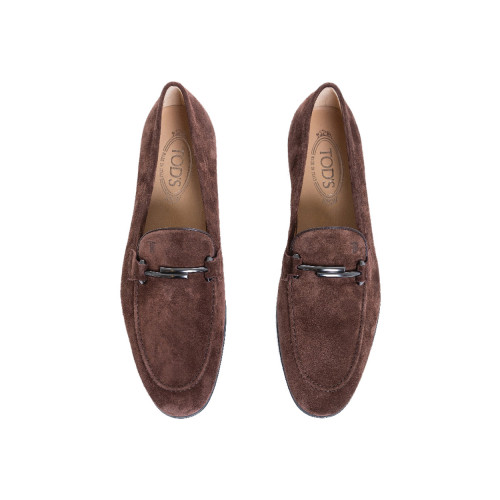 Achat Moccasins Tod's Doppia T brown in suede for men  - Jacques-loup