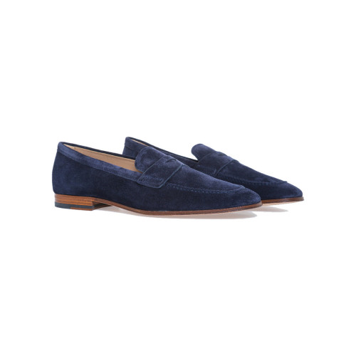 Achat Moccasins Tod's navy blue with penny strap and leather sole for men - Jacques-loup
