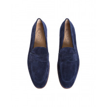 Moccasins Tod's navy blue with penny strap and leather sole for men