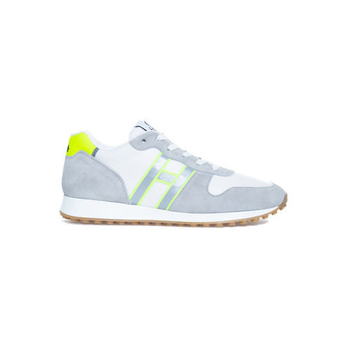 Achat Grey and white sneakers with bright yellow details Hogan for men - Jacques-loup