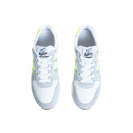 Grey and white sneakers with bright yellow details Hogan for men