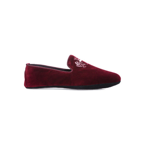"Indoor loafers  Line Loup ""Robert-André"" bordeaux in velvet for men"