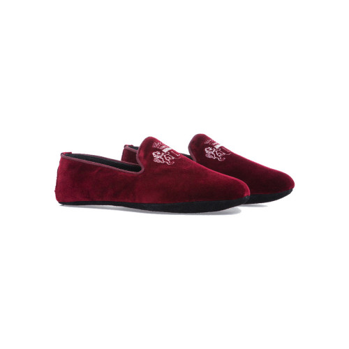 Achat Indoor loafers  Line Loup Robert-André bordeaux in velvet for men - Jacques-loup