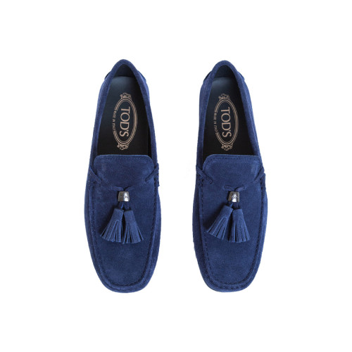Achat Moccasins Tod's navy blue with tassels for men - Jacques-loup