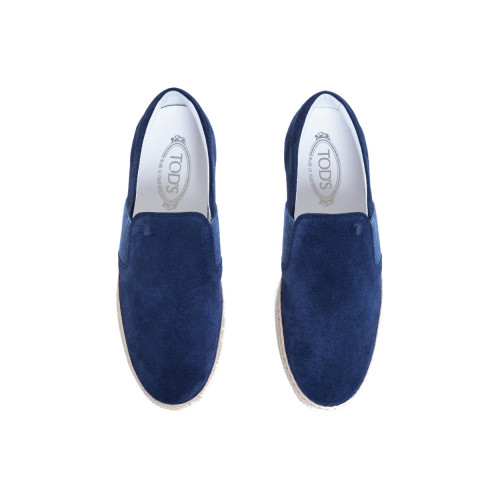 "Slip-on shoes Tod's ""Pantofola Cassetta"" navy blue for men"