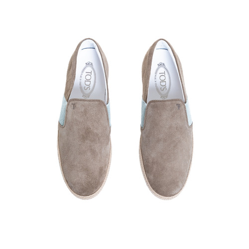 "Slip-on shoes Tod's ""Pantofola Cassetta"" taup/beige for men"