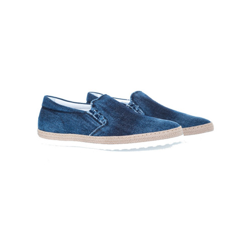 Achat Slip-on shoes Tod's Pantofola navy blue in denim for men - Jacques-loup