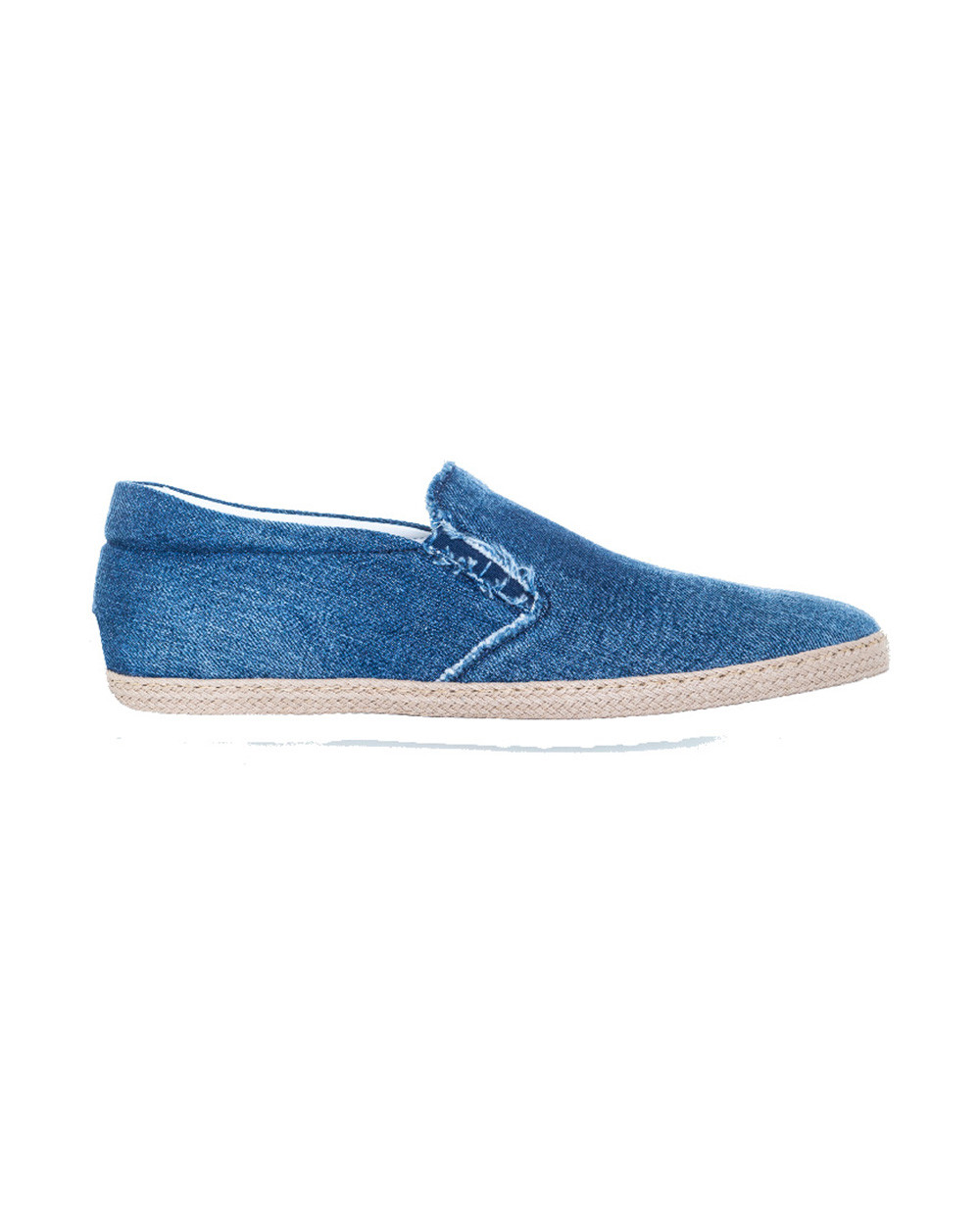 """Slip-on shoes Tod's """"Pantofola"""" faded blue in denim for men"""