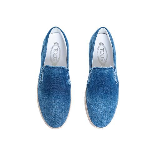 Achat Slip-on shoes Tod's Pantofola faded blue in denim for men - Jacques-loup