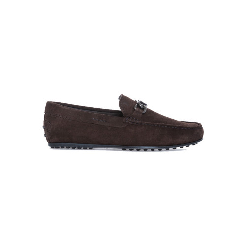 "Moccasins Tod's ""City"" dark brown with metallic bit for men"