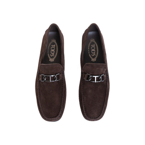 Achat Moccasins Tod's City dark brown with metallic bit for men - Jacques-loup