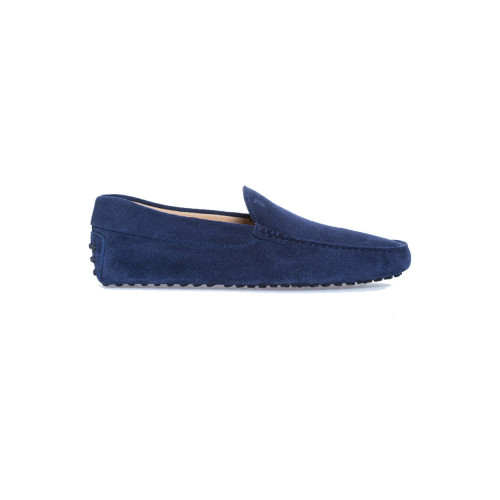"Moccasins ""Pantofola"" galaxy blue with smooth upper for men"