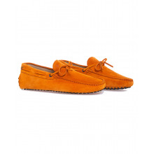 Moccasins Tod's orange with shoe lace on the upper for men
