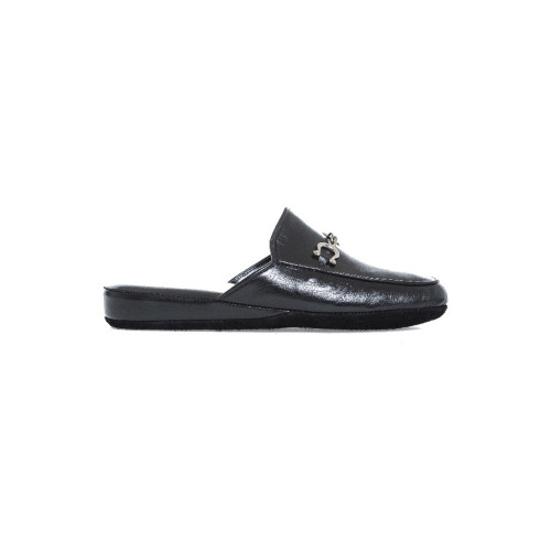 Achat Indoor mule Line Loup Ludovic black with tassels for men  - Jacques-loup