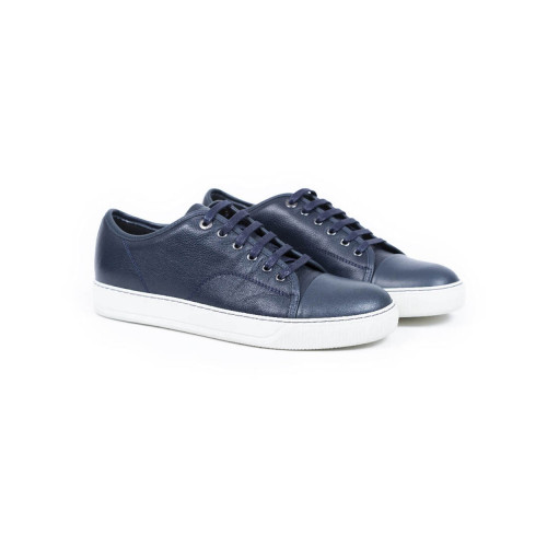 Tennis shoes Lanvin blue with white soles for men