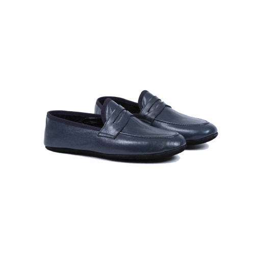"Indoor loafers  Line Loup ""Roby"" navy blue for men"