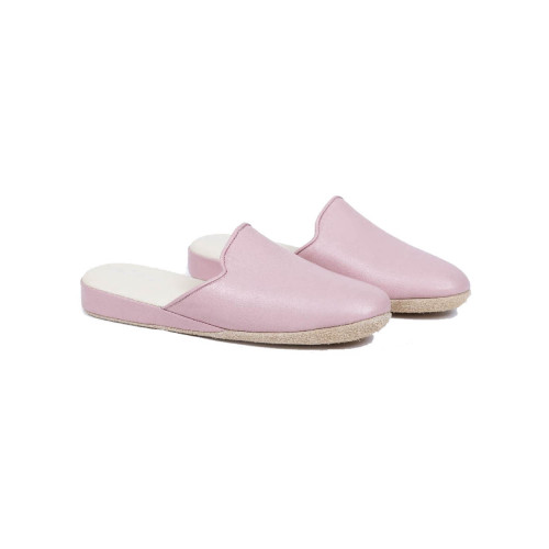 "Indoor mules Line Loup ""Linette"" pale pink for women"