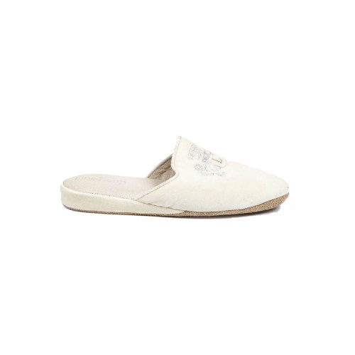 Achat Indoor mules Line Loup Stéphanie white with silver embroidery - Jacques-loup