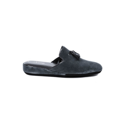 "Indoor mule Line Loup "" Boz"" dark grey with tassels for men"