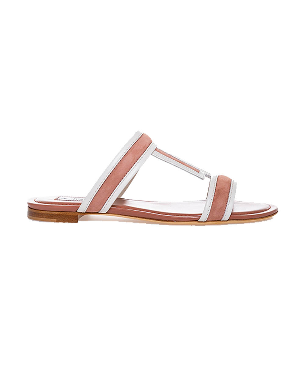 Slippers Tod's antique pink and ivory for women