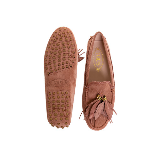 Achat Moccasins Tod's antique pink with leaves tassels for women - Jacques-loup