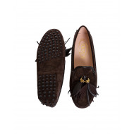 Moccasins Tod's brown with leaves tassels for women