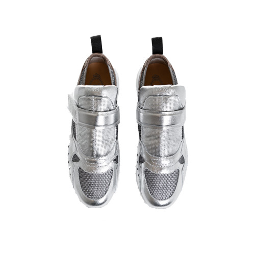 Achat Sneakers Tod's silver with velcro strap for women - Jacques-loup