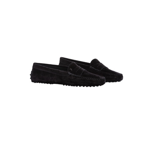 Moccasins Tod's black with penny strap for women