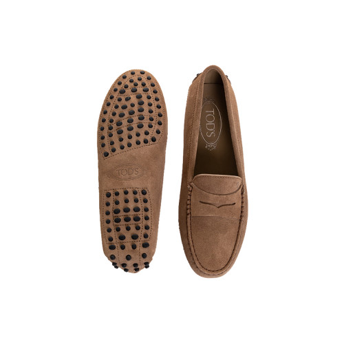 Moccasins Tod's tobacco brown with penny strap for women