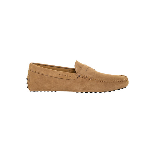 Taupe colored moccasins with penny strap Tod's for men