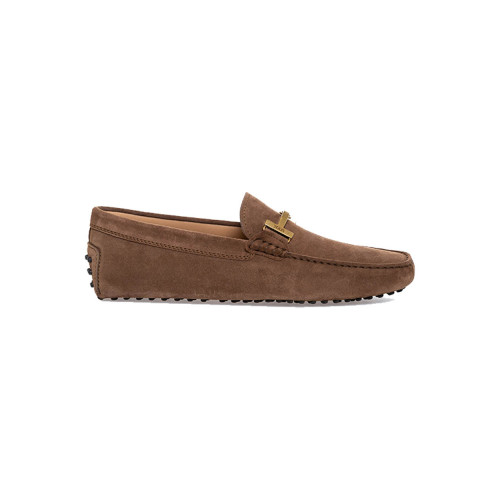 Moccasins Tod's brown with metallic strap for men