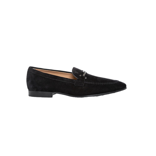 Achat Moccasins Tod's Doppia T black in split leather for men - Jacques-loup