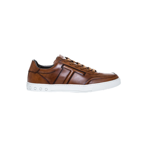 Achat Tennis Tod's Nuevo Cassetto Sportivo marron pour homme - Jacques-loup