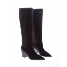 Suede high boots Texan style 70